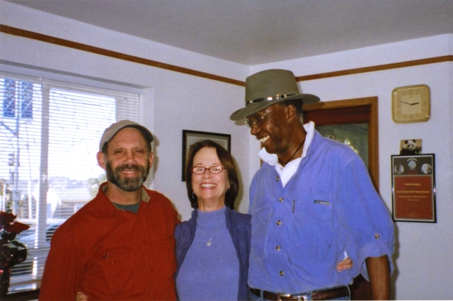 SNCC Buddies Luke (Bob) Block, Maria Gitin and Charles (Chuck) Bonner 2005