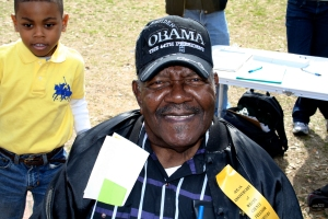 Bob Crawford Jr with grandson in Selma 2010