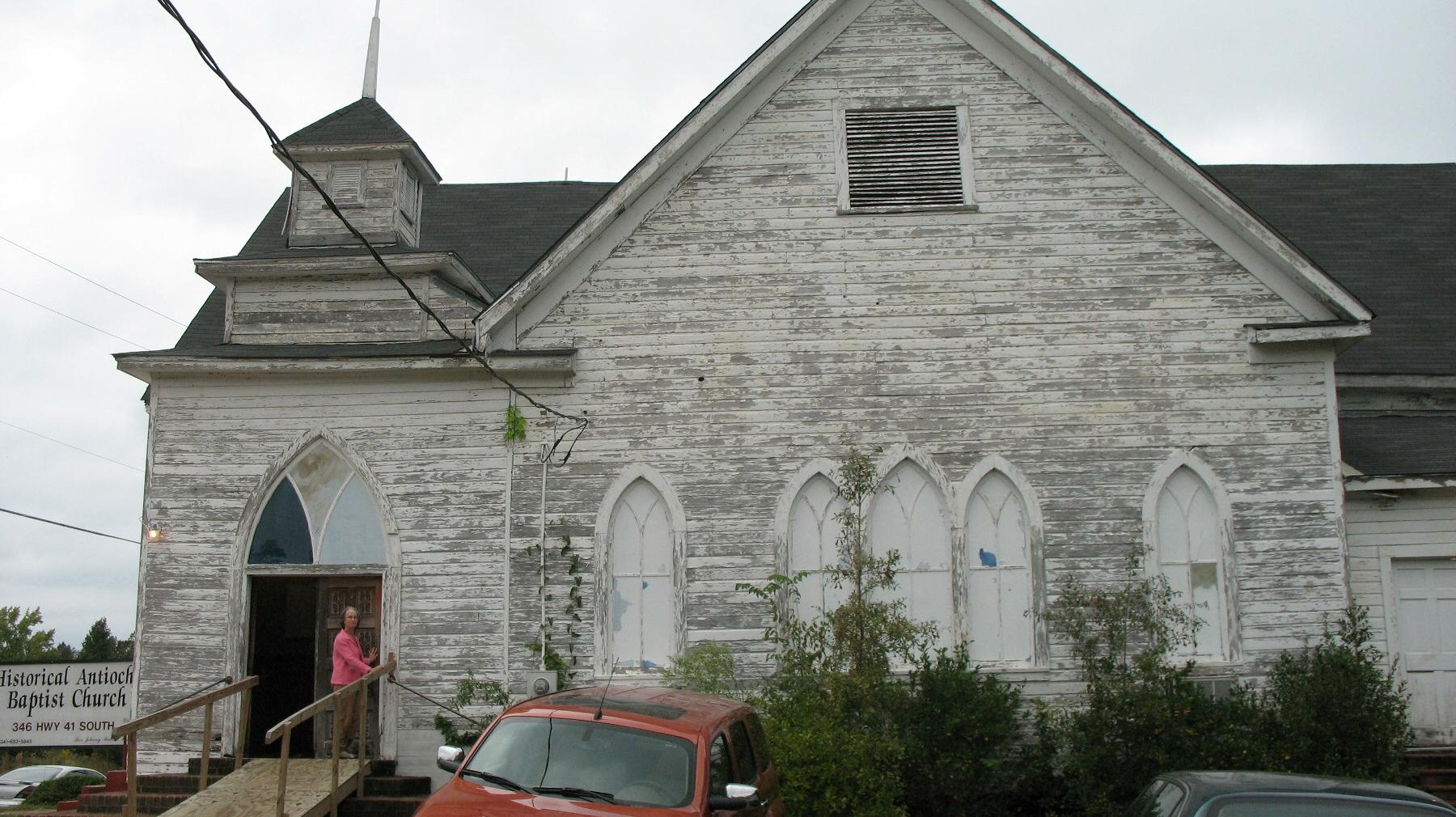 Alabama wilcox county camden - Antioch Baptist Church During Renovation