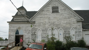 Antioch Baptist Church during renovation