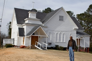 Antioch Baptist Church after renovation - John Matthews was one of several community leaders who worked on restoration and historic designation.
