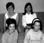 College Roomates 1965 Diane R, Lorraine Quan, Jeanne Searight, Maria Gitin (Joyce Brians)