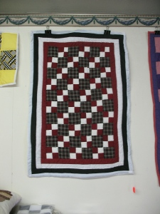 a contemporary Gees Bend quilt