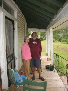 Donald P Stone with author Maria Gitin, Snow Hill 2008