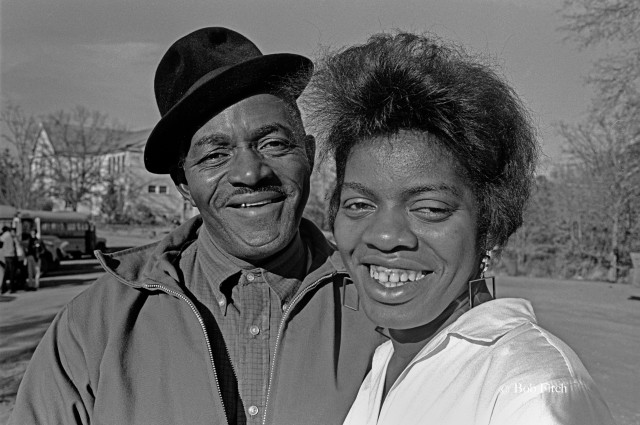 Jesse Brooksr and his daughter Ethel Brooks, Freedom Fighters. Bob Fitch photo 1966 @ Stanford University Archives.