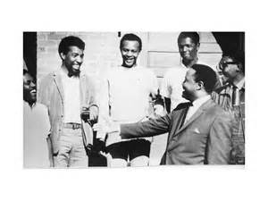 Rev Hosea L Williams with 1965 SCOPE staff.L to R- Benjamin Van Clarke, Stoney Cook, Carl Farris, Andrew Marrisett , and Richard Boone © Barbara Williams Emerson