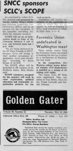 SNCC endorses SCOPE
