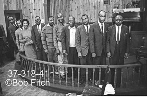 Candidates for Office 1966. Far left Rev Lonnie Brown; 5th from left in striped sweater, Rev John Ward