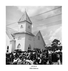 Dr. King at Antioch Baptist Church on a whirlwind tour of counties in AL, Fifteen hundred (1500) were in attendance, many waited for hours first in rain, then in hot sun. April 29, 1966